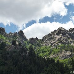 View of Aspen Peak from Hualapai Mountain Park