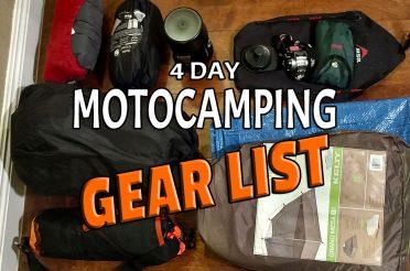 4 Day Motocamping Gear List