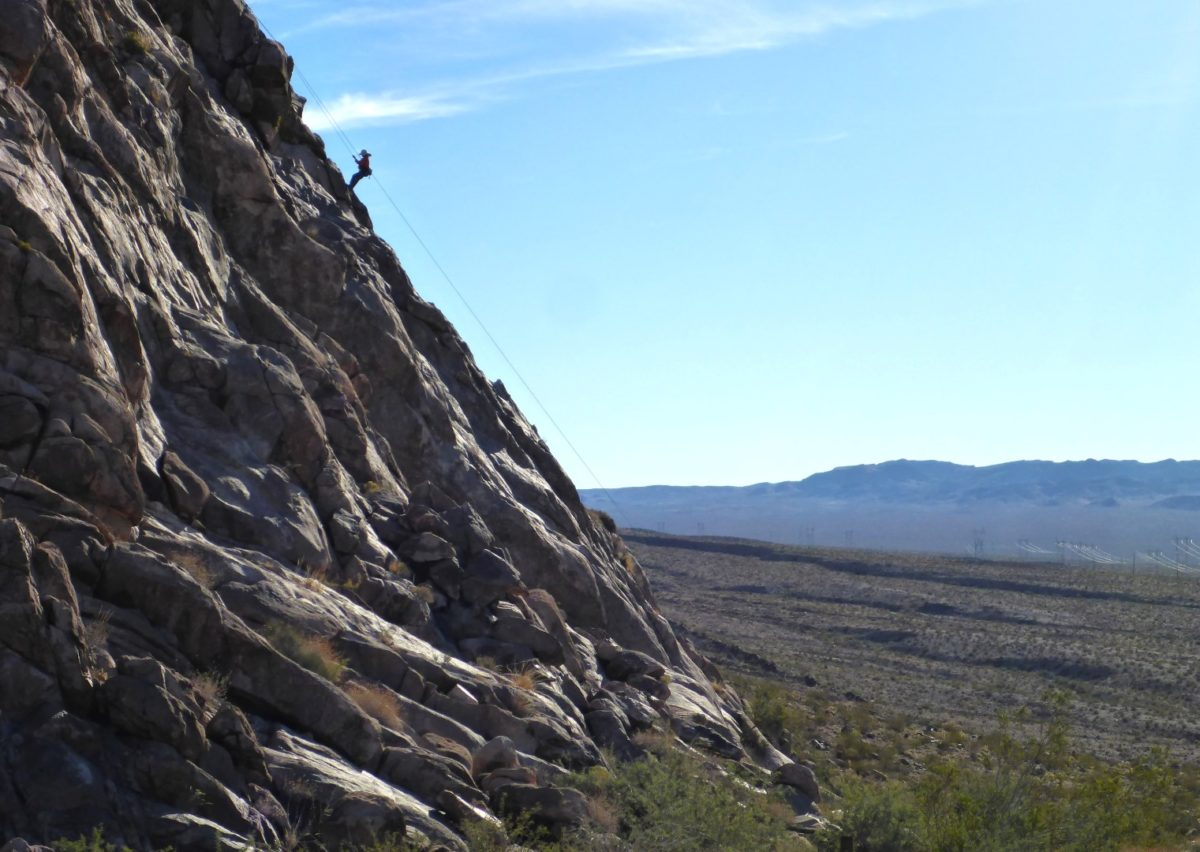 Keyhole Canyon climber