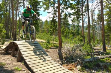 Mountain Biking Trestle Bike Park, Colorado