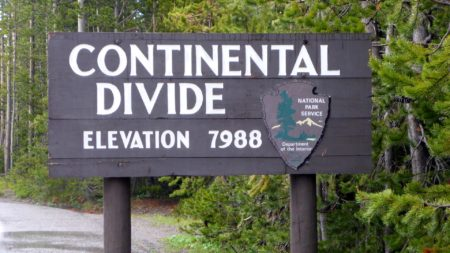 We crossed the Continental Divide several times during this trip. We lost track how many times.