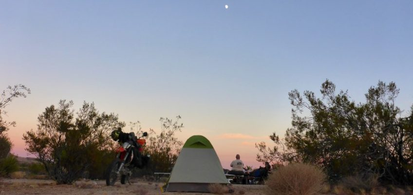 Motocamping In The Mojave Preserve
