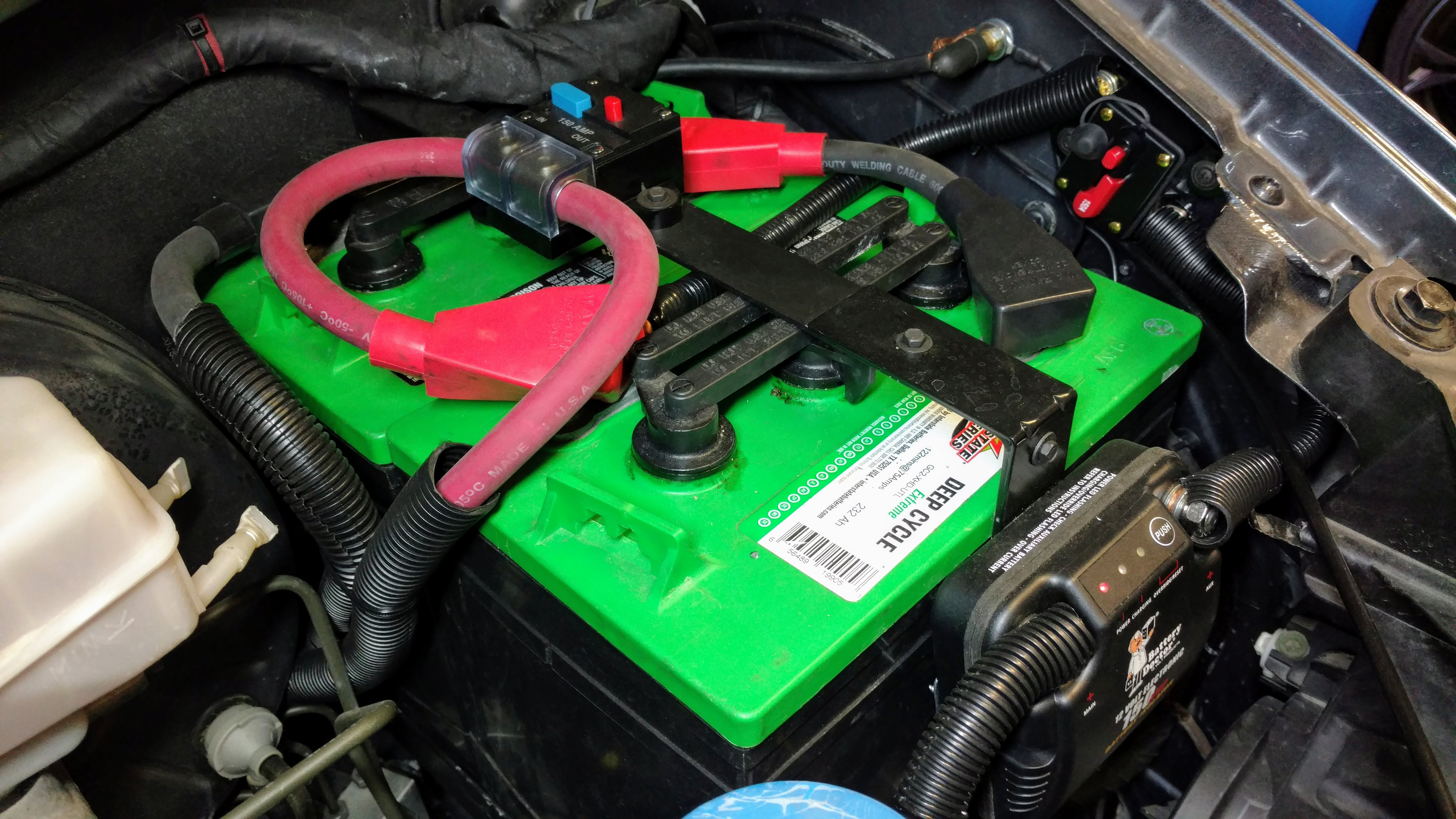 Dual 6 Volt Underhood Battery Tray Sprinter Van. I Used A 150a Breaker Instead Of Fuse For Main Circuit Protection On The Positive Cable. Wiring. Battery Doctor Disconnect Wiring Diagram At Scoala.co