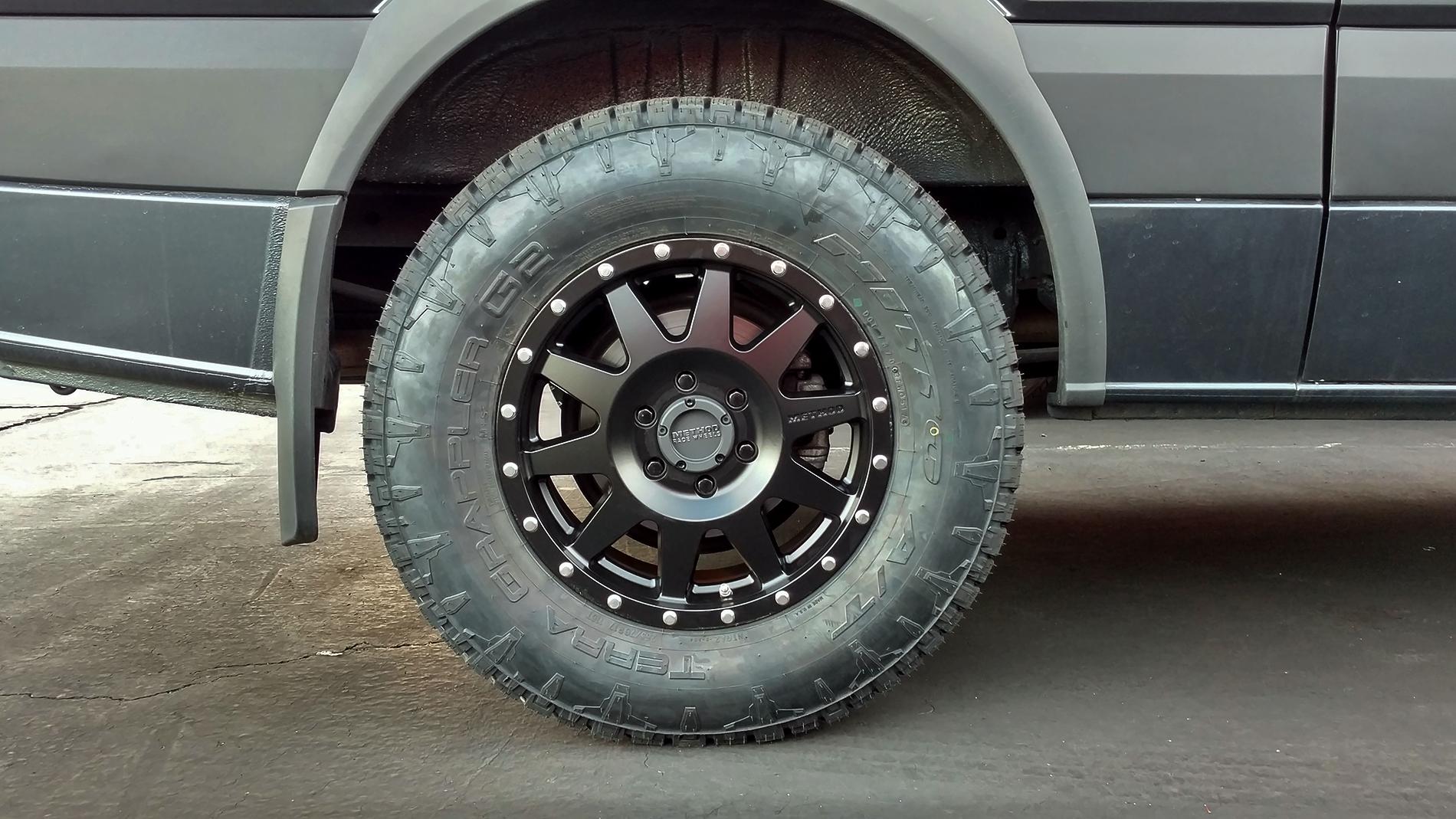 Upgraded Sprinter Van Wheels Method Wheels Amp Nitto Ats