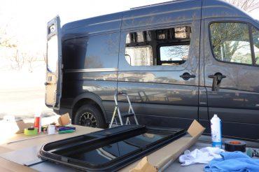 Installing CR Laurence Windows in Our Sprinter Van