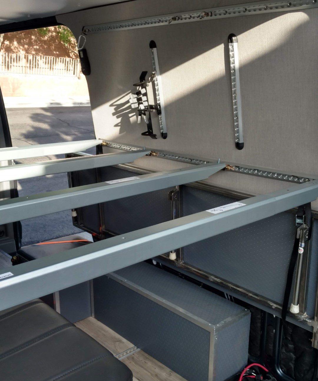 Sprinter Van Diy 3 Panel Platform Bed On L Track