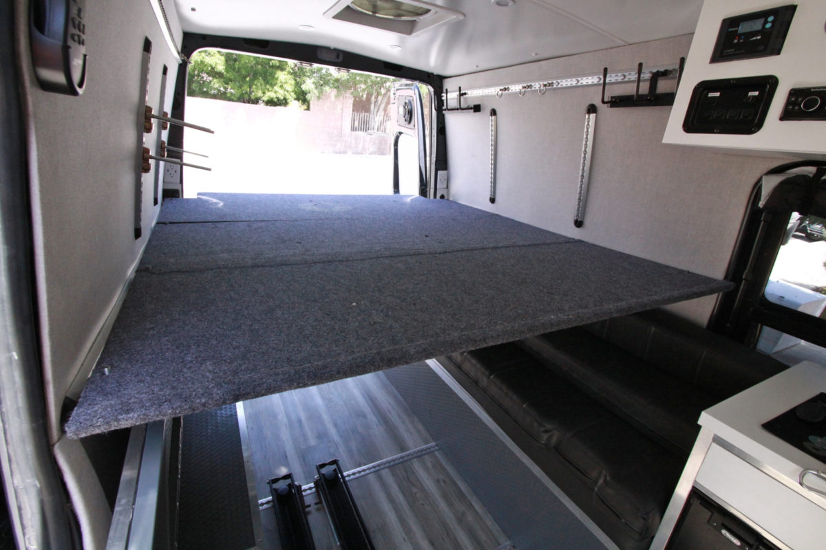 Sprinter Van Diy 3 Panel Platform Bed On L Track