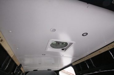 Sprinter Van Ceiling Install: White, Clean, and Simple!