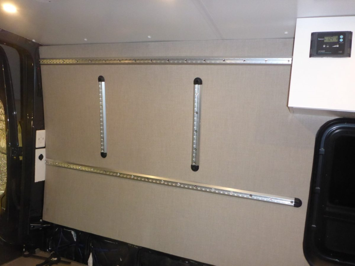 Adding Upholstered Wall Panels in our Sprinter Van
