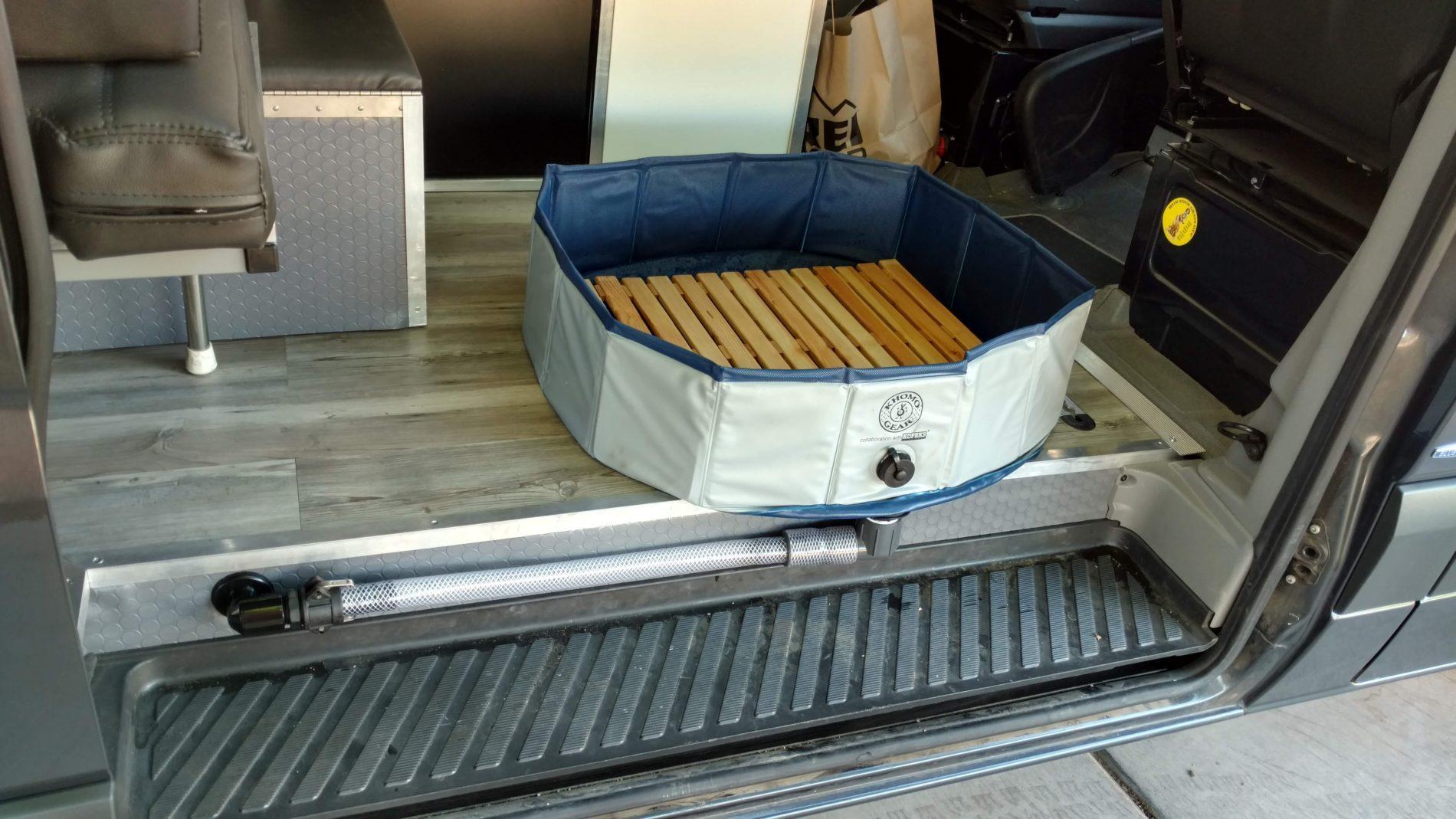 Building An Indoor Portable Shower For Our Sprinter Campervan