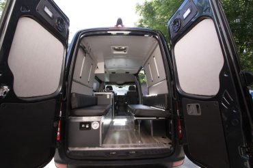 Adding Upholstered Wall Panels in our Sprinter Campervan