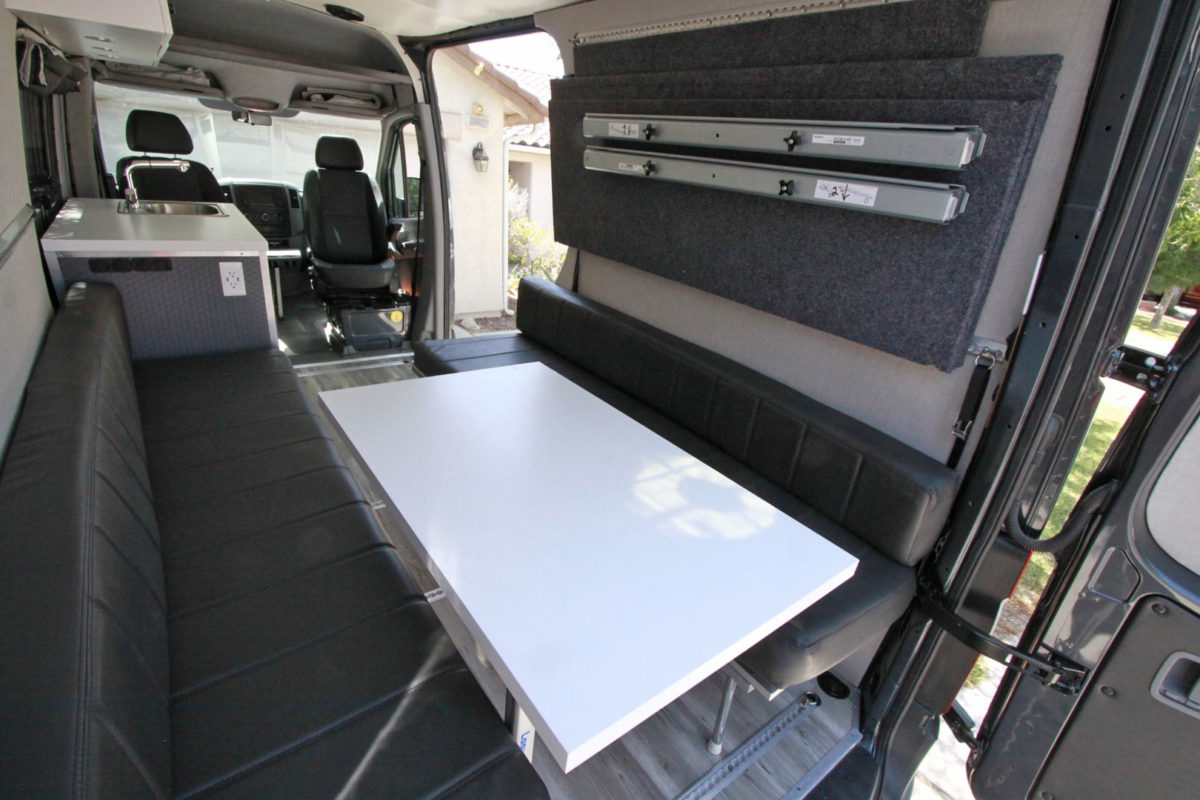 2433f9851b Stow Away Bed For Van.Sprinter Van DIY 3 Panel Platform Bed On L ...