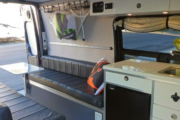 Countertop and Tabletop Solution for Our Sprinter Campervan