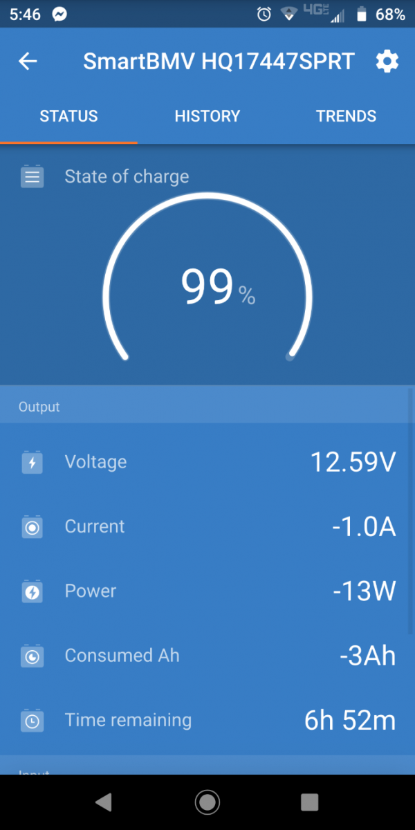 Batteries after Brew Cycle