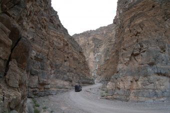 Exploring Titus Canyon in a 2WD Sprinter Van