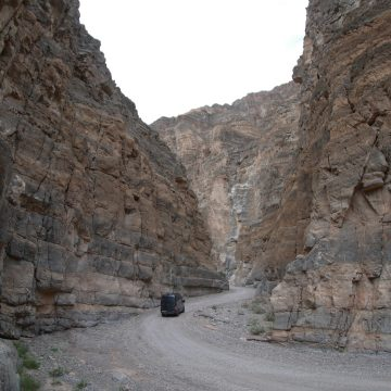 Exploring Titus Canyon in a 2WD Sprinter Van
