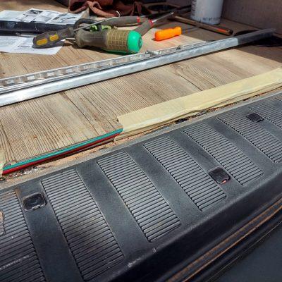 trailer wiring routing under floor trim