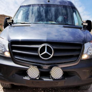 Installing Offroad Lights on Our Sprinter Van – Cheap and Awesome!
